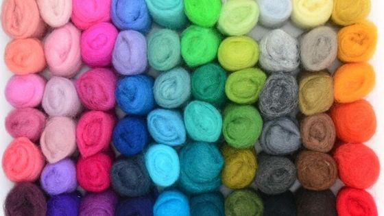 Different types of felt wool