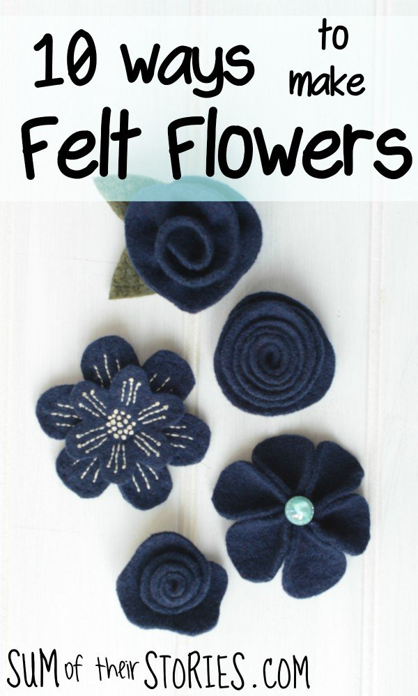 different ways to make easy felt flowers: easy felt ctaft ideas to make