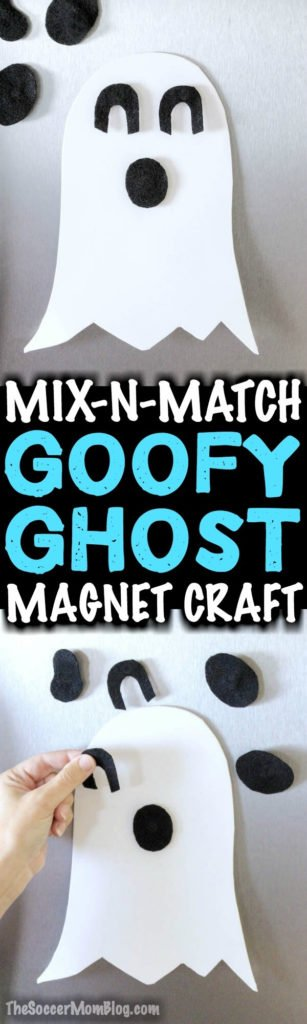 Mix n match ghost magnet crafts for hallloween