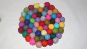 coasters to make with felt balls