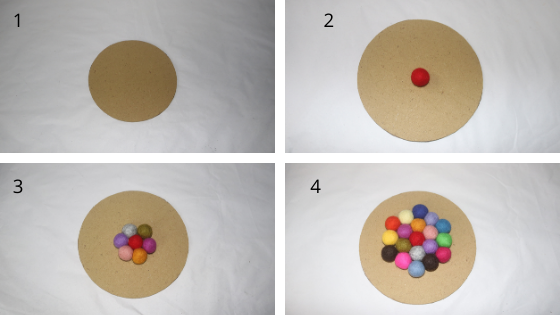 How to make felt ball coasters at home