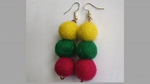 Felted earrings to match your dresses