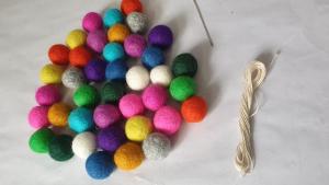 How to make homemade felt ball garland