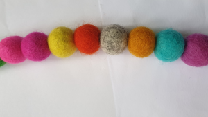 How to make your own felt ball garland