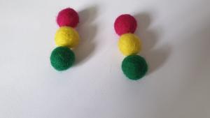 Felt balls for making felted earrings