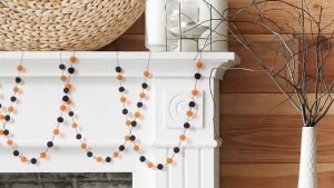 Hlloween Felt ball garland