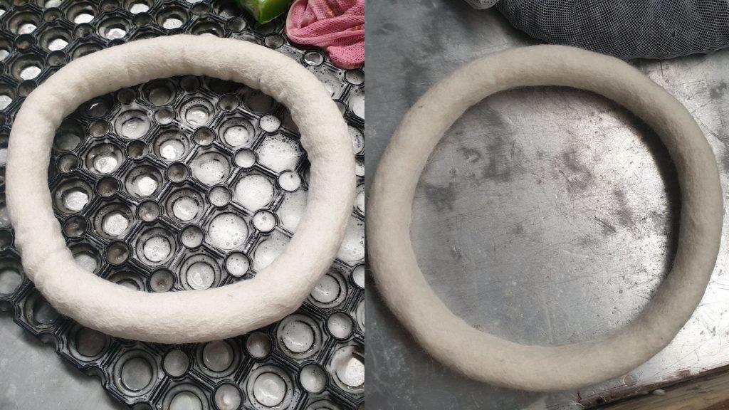 How to make felt ball wreath