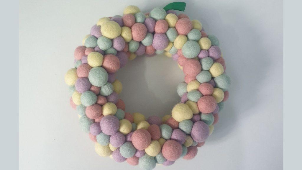 Felt balls wreath