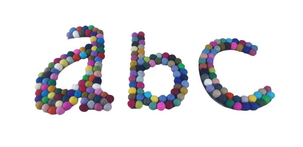 felt ball letters final image