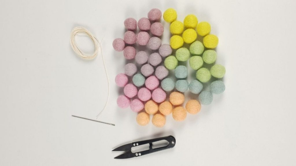 Felt ball curtain tie backs