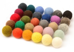 How to make felt balls from merino wool