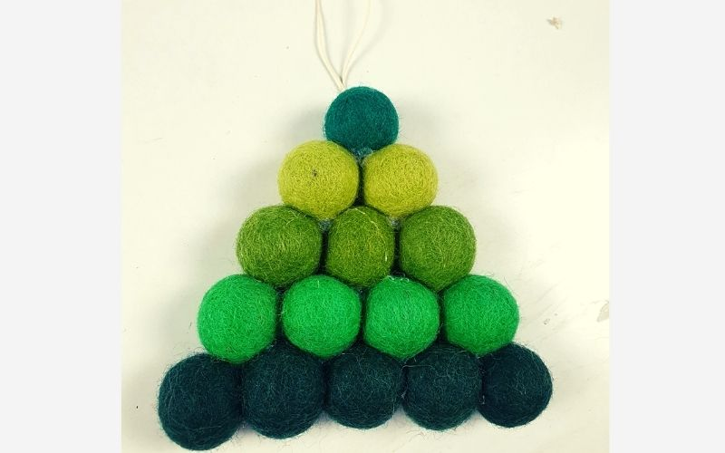 Felt ball Christmas ornaments