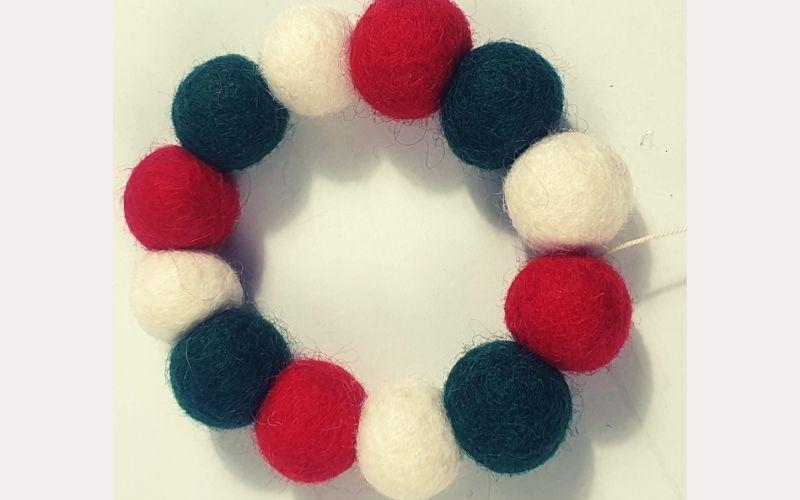 Use felt ball ornaments instead of garland