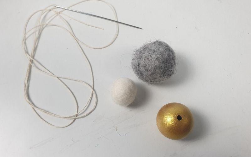 Felt ball ornaments for Christmas tree
