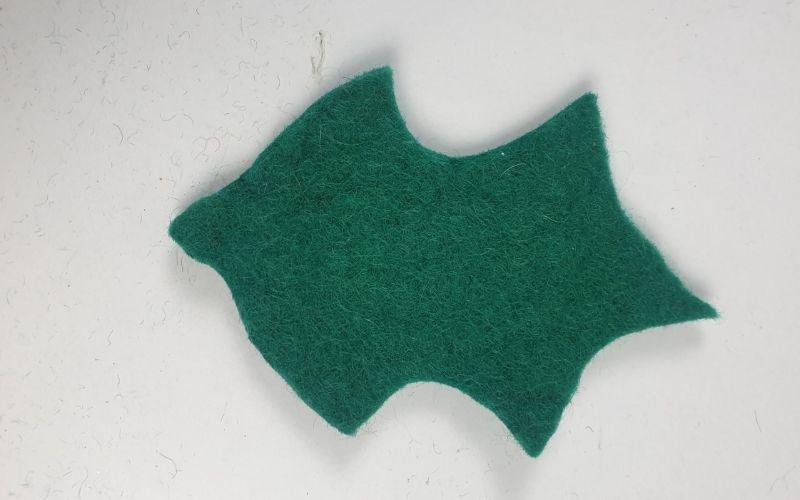 felt leaf for Christmas garland